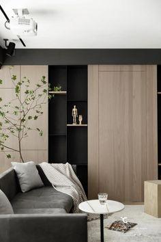 Home Living Room, Interior Design Living Room, Living Room Designs, Built In Furniture, Furniture Design, Minimalist House Design, Bogor, Small Room Bedroom, Contemporary Interior