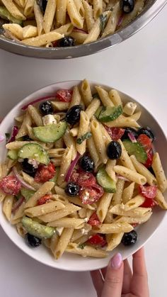 Pasta Salad Recipes, Veggie Recipes, Vegetarian Recipes, Dinner Recipes, Food Salad, Cooking Recipes, Healthy Recipes, Greek Salad Pasta, Pasta Dishes