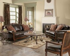 Best Broyhill Stetson L704 Top Grain Leather Sofa Collection 400 x 300