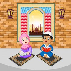 Illustration about Illustration of the two children are reading and praying with the happy face on the ramadan. Illustration of mubarak, greeting, fasting - 144709882 Emoji Images, Cartoon Girl Images, Cartoon Kids, Poster Background Design, Vector Background, Ramadan Photos, All About Me Book, Old Paper Background, Ramadan Greetings