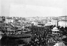 Marques de Pombal. Sem a estátua, quando ainda se realizava a feira (1911)