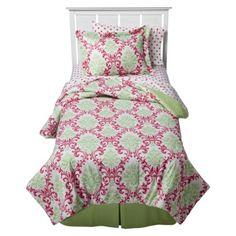 Lila Comforter Mini Set - Pink/ Green.Opens in a new window