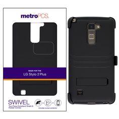 metroPCS Shield Holster Combo w/ Swivel & Screen Protector for LG G Stylo 2 Plus #metroPCS