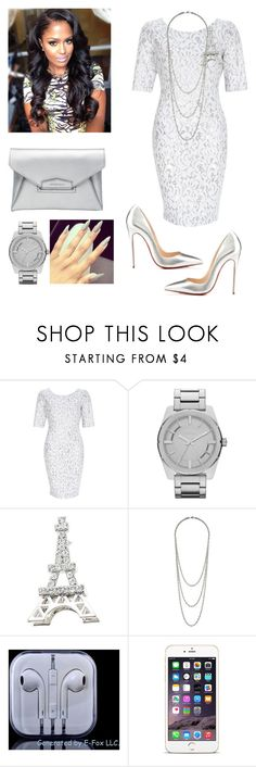 A fashion look from May 2015 featuring white cocktail dress, handbag purse and silver watches. Browse and shop related looks. Diva Fashion, Fashion Stylist, Couture Fashion, Trendy Fashion, Fashion Looks, Classy Wear, Classy Outfits, Chic Outfits, Cocktail Wear