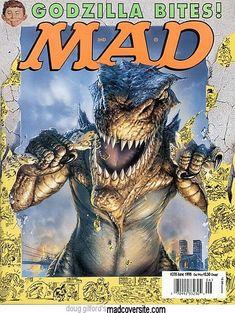 Shrek Alfred E Chris Rock Neuman MAD Magazine Subscribe Card: Spy vs Spy