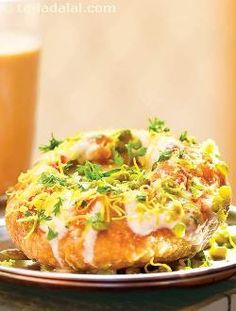 Dahi Kachori (A popular Indian snack and street food)