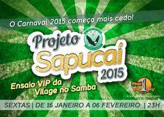 """Arte do flyer """"Projeto Sapucaí"""" - frente"""