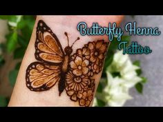 #hennahaircolor #hennabrows Trending Unique Butterfly Henna Tattoo Design | Stylish Mehendi Tattoo Henna Cake Designs, Pretty Henna Designs, Henna Tattoo Designs Simple, Beginner Henna Designs, Mehndi Simple, Unique Mehndi Designs, Wedding Mehndi Designs, Mehndi Design Images, Mehndi Designs For Hands