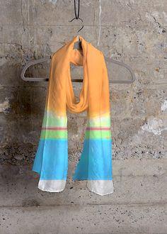Cashmere Silk Scarf - Sea Breeze by VIDA VIDA z90Q8V3d