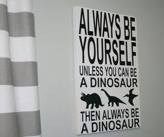 Dinosaur Sign, DInosaur Decor, Boys Bedroom Decor, Nursery Decor, Nursery Sign…