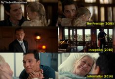 """Because making something disappear isn't enough. You have to bring it back.""  The father-child relationship in Chris Nolan movies.  #ThePrestige #Inception #Interstellar"