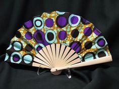 Superb fan in African wax -