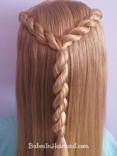 Letter Y Hairstyle that's great for our BYU readers :)