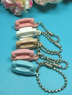 PRINCESS PHONE KEYCHAINs