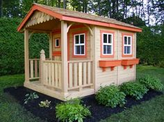 DIY Designs - Kids Pallet Playhouse Plans | Wooden Pallet Furniture | We Heart It