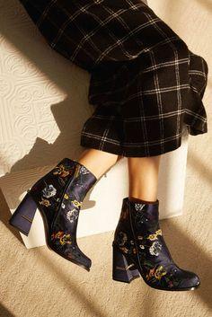 Tibi Flower-Print Boots