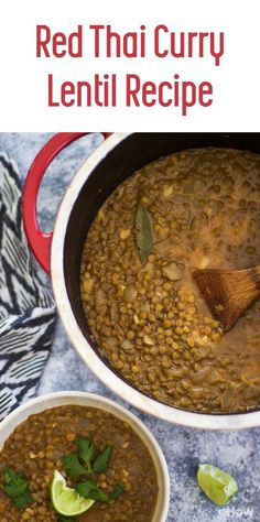 This red thai curry recipe is an easy, healthy weeknight menu must! Lentils are easy to cook and great for you.  The slightly spicy kick that comes from red curry pairs perfectly with lentils and coconut milk. Serve over rice for a meatless meal! You'll love knowing that you are feeding your family something that is healthy and satisfying. http://www.ehow.com/how_12343766_red-thai-curry-lentil-recipe.html?utm_source=pinterest.com&utm_medium=referral&utm_content=freestyle&utm_campaign=fanpage