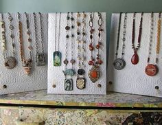 Beautiful Necklace Displays Using Wallpaper - The Beading Gem's Journal
