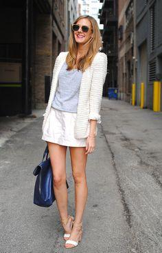White short suit.