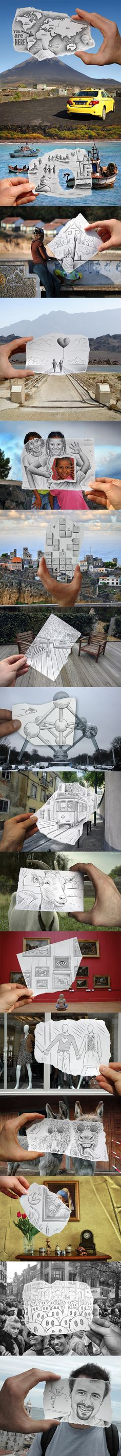 Pencil vs Camera by Ben Heine Creative Photos, Creative Art, Grafiti, Art Plastique, Amazing Art, Awesome, Belle Photo, Paper Art, Cool Art