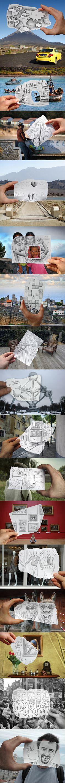 Lapicero vs Cámara - Pencil VS Camera  Un proyecto de fotografía y lápiz del artista Ben Heine