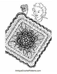 Rose Potholder - free pattern for crocheting a potholder with a rose pattern.