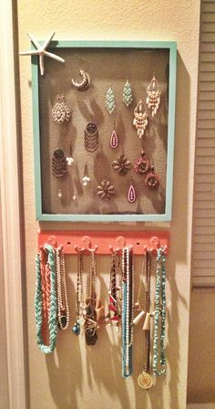 Turquoise  coral DIY jewelry holder