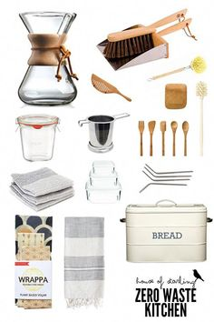 A quick and easy guide to a zero waste minimalist kitchen. Everything you need to declutter and live better. #zerowaste #minimalist #kitchentools #wrappa #ecofriendlykitchen