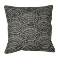 Scallop Scatter Cushion Grey 60 X 60cm | Volpes