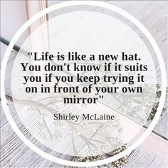 """Quote of the day ! """"Life is like a new hat. You don't know if it suits you if you keep trying it on in front of your own mirror"""". What do you think ? Ascot Hats, Keep Trying, Life Is Like, Suits You, Corporate Events, Quote Of The Day, Wedding Planner, Bridesmaids, Wedding Day"""