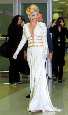 Lady Gaga in McQueen Dress