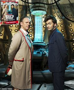 One of my favorite Doctors (the Fifth, Peter Davidson) with his real life son in law, the Tenth (David Tennant). This needs to be a Life Is Good tshirt.