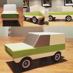Early bronco wood toy car out of Wooden Toy Trucks, Wooden Car, Wood Block Crafts, Wood Blocks, Cardboard Car, Baby Boy Toys, Classic Ford Broncos, Woodworking Workshop, Diy Home Crafts