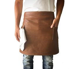 Men's Handcrafted Leather apron $150