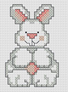 Cross stitch  Easter bunny chart