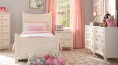 picture of Jaclyn Place Ivory 5 Pc Twin Panel Bedroom from Bedroom Sets Furniture - dresser, mirror, bedside table Bedroom Furniture Sets, Affordable Bedroom Sets, Bedroom Panel, Twin Bedroom, Rooms To Go Kids, Childrens Room Decor, Bedroom Furniture Stores, Twin Bedroom Sets, Girls Bedroom Sets