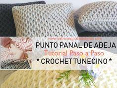 Como tejer punto panal de abeja en crochet tunecino Knit Crochet, Crochet Hats, Giant Flowers, Knitting, Diy, Maxis, Hobbies, Youtube, Tricot Crochet