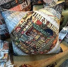Richele Christensen: Eclectic Elements Multi-Strip Pillow http://californiaartgirl.blogspot.com/2014/05/eclectic-elements-multi-strip-pillow.html