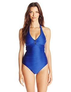 Calvin Klein Women's Bar Halter Maillot One Piece Swimsuit with Removable Soft Cups, Atlantis, 8 Calvin Klein http://smile.amazon.com/dp/B00US0JYRC/ref=cm_sw_r_pi_dp_YKU8wb1D5MHQD
