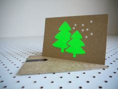 Christmas Tree Card by km2creative on Etsy, $8.00