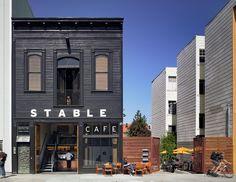 Stable Cafe in San Francisco, California, designed by Malcolm Davis.