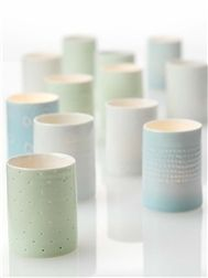Delicate ceramic votives: Anne Black