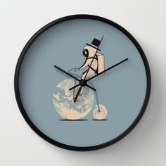 The classic lunar cycle Wall Clock by AGRIMONY // Aaron Thong