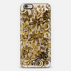 gold floral phone case + $10 off your first order when you use the code: QBADQW on our collaboration with @Casetify, we love the range of clear cases available for lots of different phone cases not just iphones! #iphonecase #clearcase #casetify #amysia