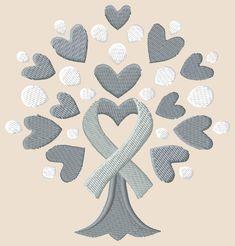 Awareness Ribbon Tree Grey