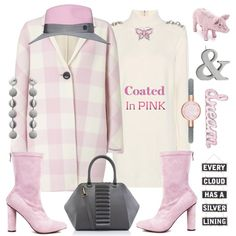 How To Wear She Pinches Pennies & Puts Them In A Pink Piggy Bank - Then She Purchases Her Dreams Outfit Idea 2017 - Fashion Trends Ready To Wear For Plus Size, Curvy Women Over 20, 30, 40, 50