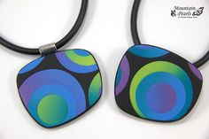 Polymer clay pendants by Mountain Pearls | by mountain.pearls