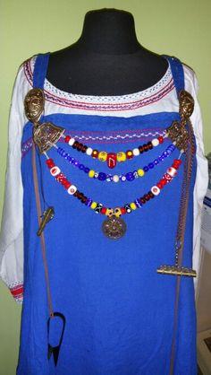 Fibelkette mit Birka Perlen und Birka Nadeldose