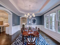 Formal dining area with coffered ceiling Charlotte, NC #dickensmitchener