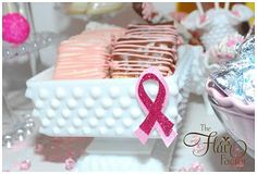 Desserts for a breast cancer awareness party #Dessert